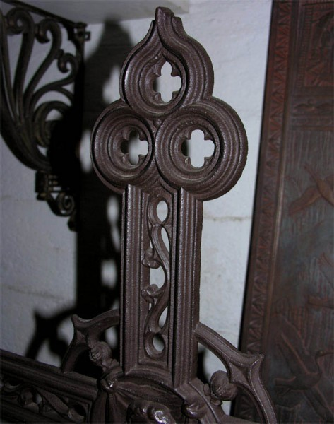 19th Century French Cast Iron Cross 3