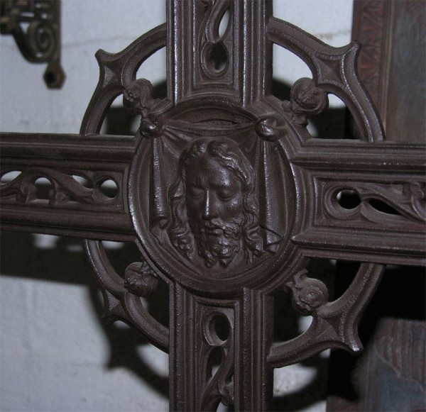 19th Century French Cast Iron Cross 5