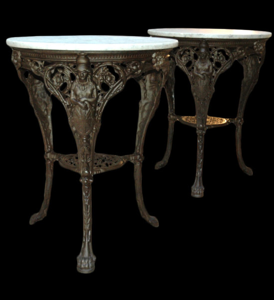 french cast iron table_black
